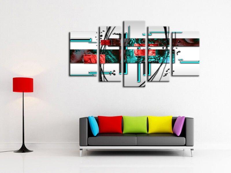 tableau toile champs de lavande et coucher de soleil tableau paysage. Black Bedroom Furniture Sets. Home Design Ideas