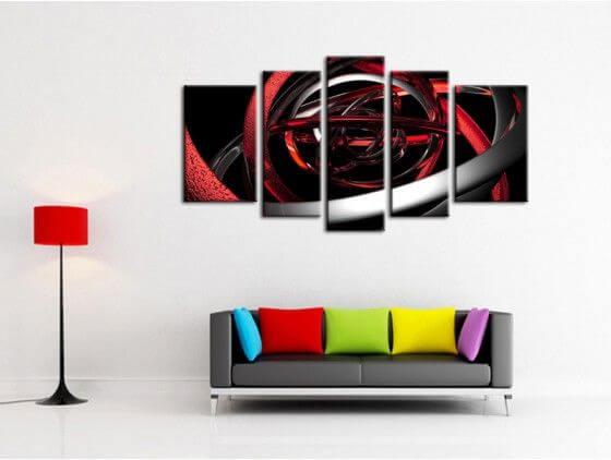 Tableau toile d co moderne design abstrait tableau abstrait hexoa - Toiles modernes design ...