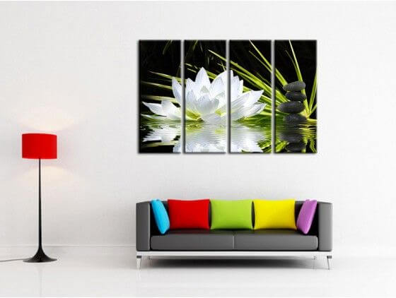 Tableau d co chambre et salon comets tableau abstrait hexoa - Tableaux toiles decoration ...