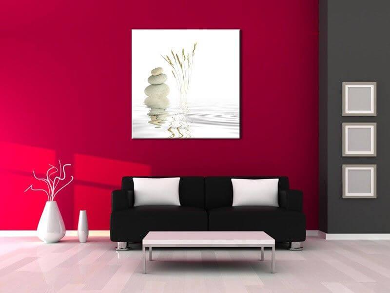Tableau déco chambre et salon comets - Tableau Abstrait Hexoa