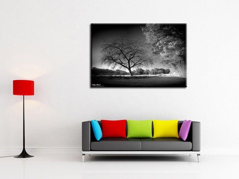 Tableau noir et blanc d co int rieur abstrait tableau abstrait hexoa - Tableau photo noir et blanc ...