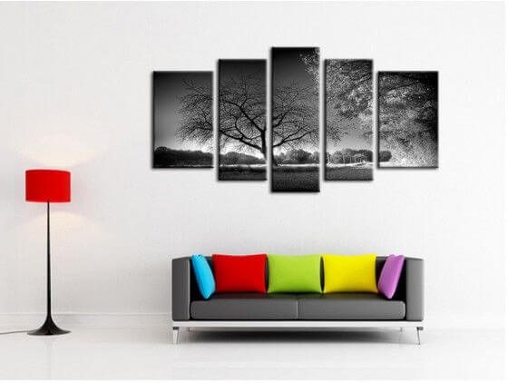 tableau decoration murale abstrait gris tableau abstrait hexoa. Black Bedroom Furniture Sets. Home Design Ideas
