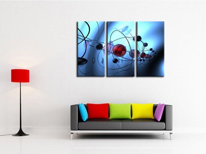 tableau peinture acrylique d coration murale design. Black Bedroom Furniture Sets. Home Design Ideas