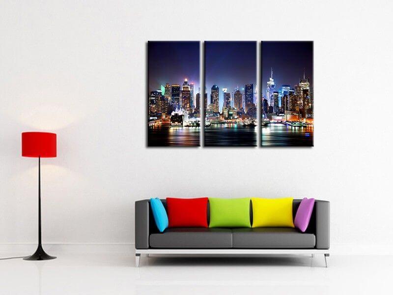 triptyque design abstrait deco murale. Black Bedroom Furniture Sets. Home Design Ideas