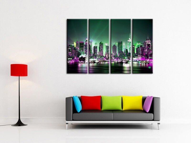Tableau deco murale triptyque design abstrait tableau abstrait hexoa - Tableau original design ...