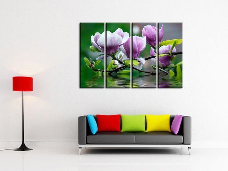 tableau moderne triptyque orchid es tableau d co fleurs. Black Bedroom Furniture Sets. Home Design Ideas