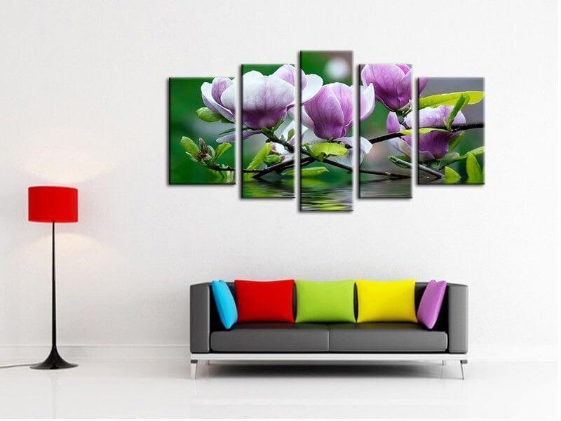 tableau triptyque d co p tales de rose tableau d co fleurs. Black Bedroom Furniture Sets. Home Design Ideas