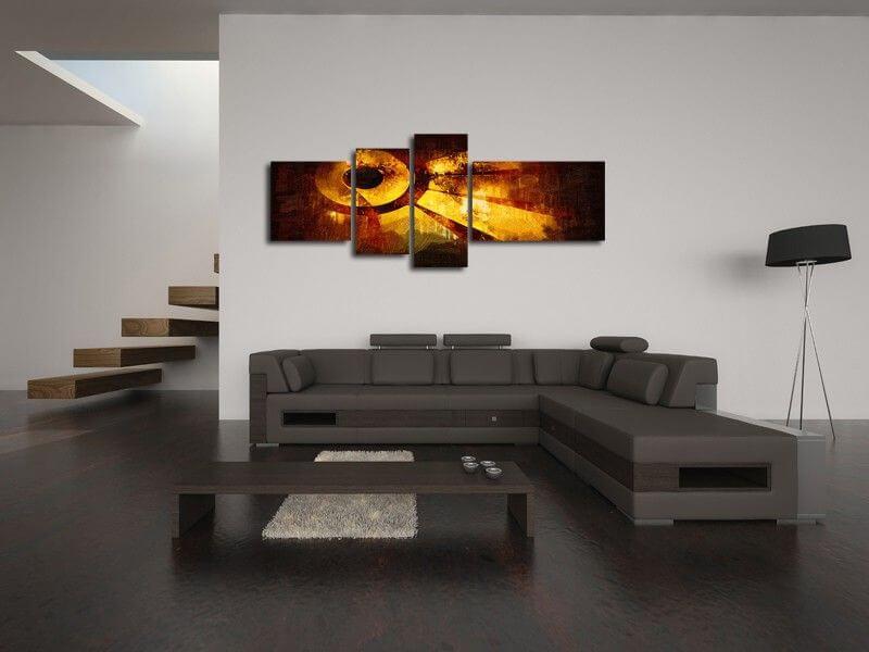 tableau d coration moderne triptyque fleurs rose tableau. Black Bedroom Furniture Sets. Home Design Ideas