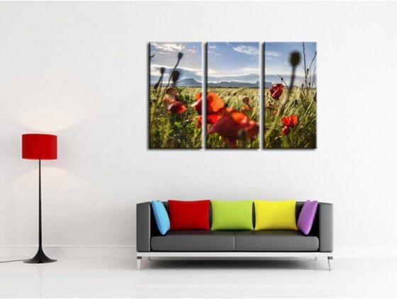 DECORATION MURALE TABLEAU DESIGN ABSTRAIT TABLEAU CONTEMPORAIN FORMAT ...