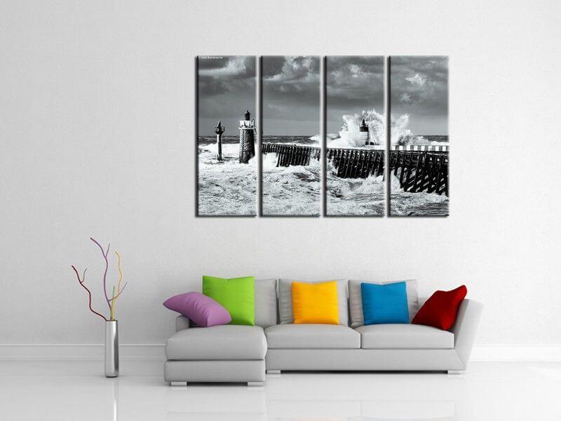 grand tableau d co aquashot micro vague tableau landes hexoa. Black Bedroom Furniture Sets. Home Design Ideas