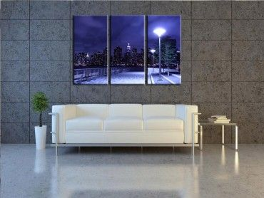 Tableau contemporain manhattan skyline