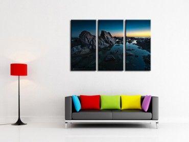 Tableau photographie d'art Crystal noir