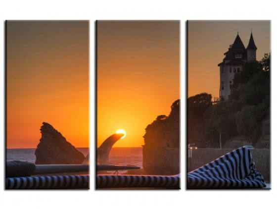 Tableau photo Biarritz Sunset
