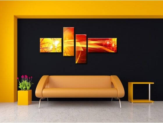 Deco murale tableau abstrait wall murals for Decoration murale pas cher