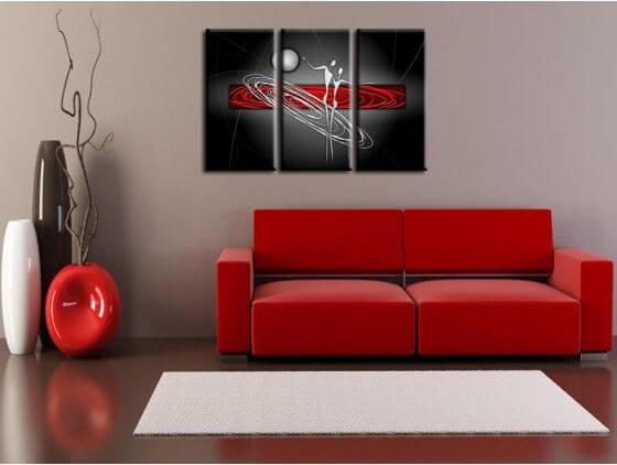 Tableau peinture decoration intérieure design abstrait