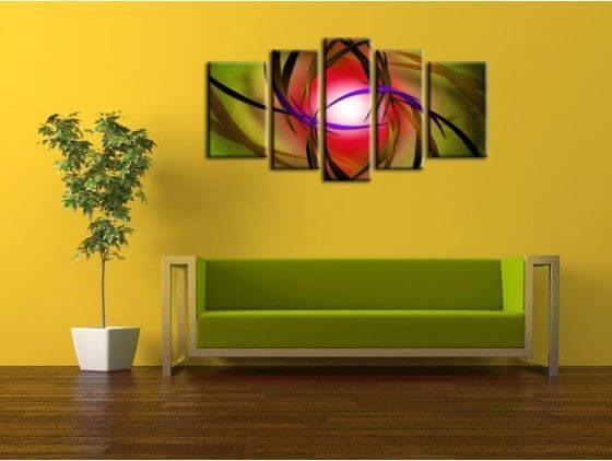 Tableau peinture décoratif abstrait
