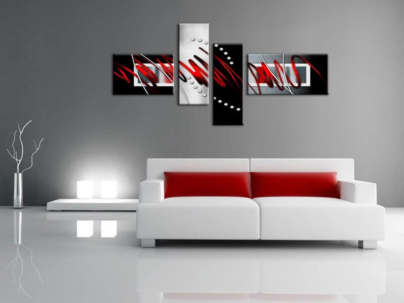 decoration murale design peinture interesting peinture pour salon moderne with decoration. Black Bedroom Furniture Sets. Home Design Ideas