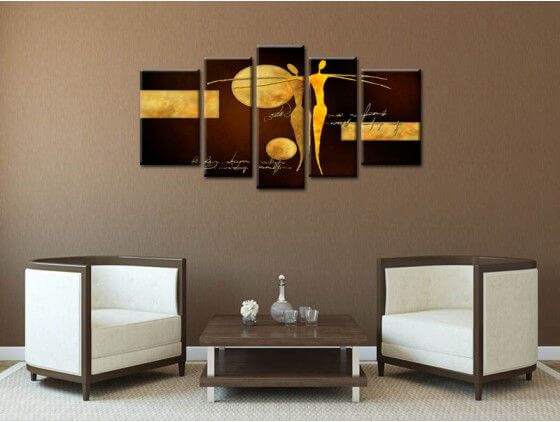 Tableau contemporain abstrait d co moderne salon for Tableau home deco moderne
