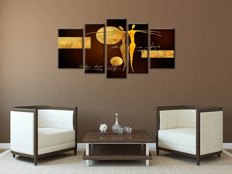 Tableau contemporain abstrait d co moderne salon for Deco salon original