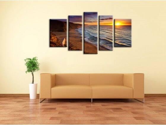 tableau paysage coucher de soleil design tableau deco. Black Bedroom Furniture Sets. Home Design Ideas