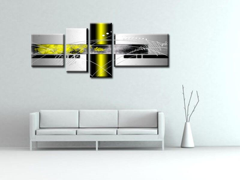 Tableau abstrait original d coration murale moderne sur for Decoration murale moderne