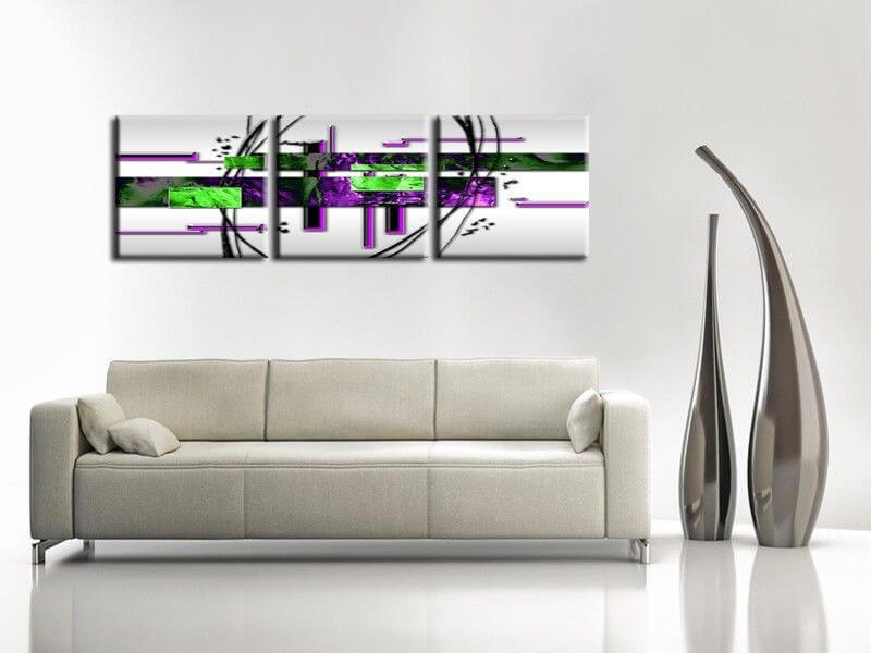 D coration murale moderne tabeau abstrait pas cher sur for Decoration tableau peinture