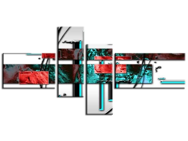 D coration murale moderne tabeau abstrait pas cher sur for Decoration tableau moderne