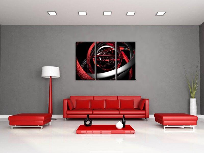D coration murale design tableau abstrait moderne sur - Tableaux decoration murale ...