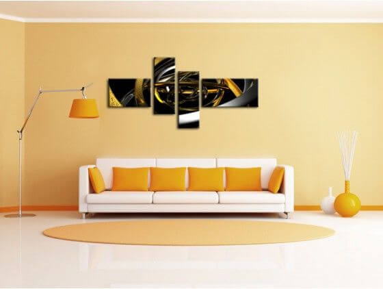 Tableau moderne hexoa for Decoration murale moderne
