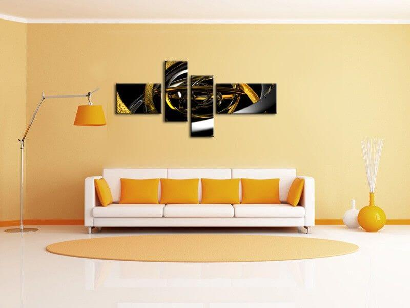 D coration murale design tableau abstrait moderne sur for Decoration murale moderne