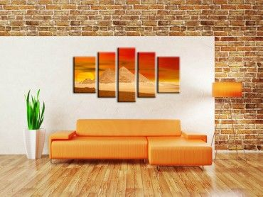 Tableau orange pyramides sunset