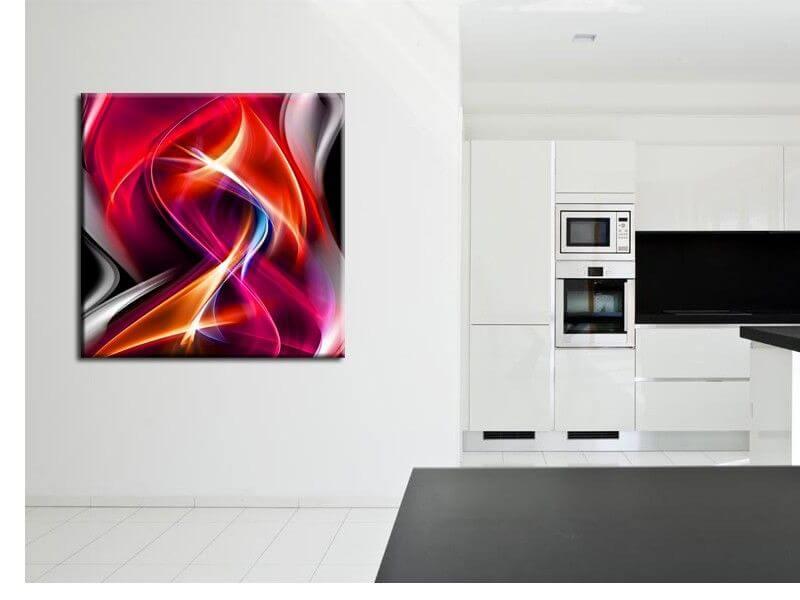 d coration murale moderne tableau abstrait pas cher sur. Black Bedroom Furniture Sets. Home Design Ideas