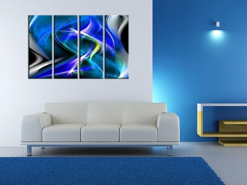 D coration murale moderne tableau abstrait pas cher sur for Decoration murale tableau