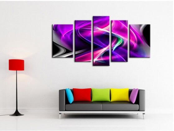 Tableau abstrait design décoration murale flamme