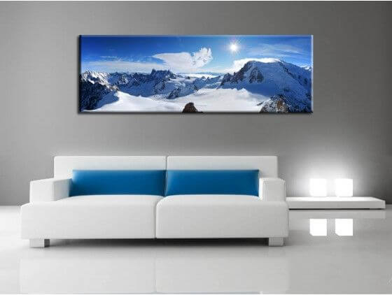 tableau photo design montagne mont blanc pas cher d co xxl. Black Bedroom Furniture Sets. Home Design Ideas