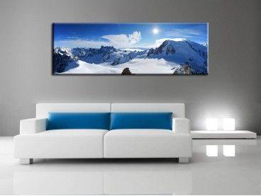 Tableau panorama du mont blanc