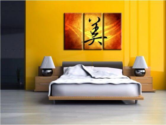Tableau design Lettre chinoise