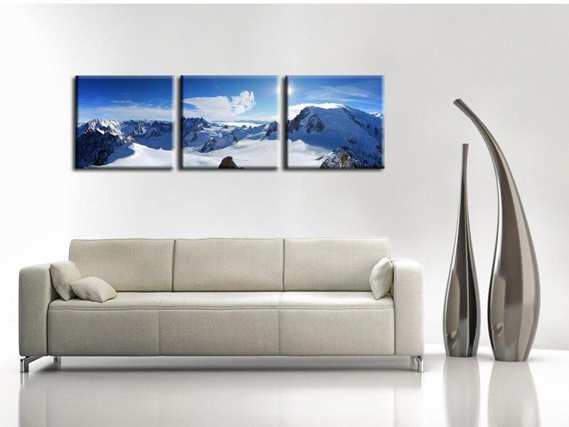 tableau photo design montagne mont blanc pas cher d co xxl. Black Bedroom Furniture Sets. Home Design Ideas