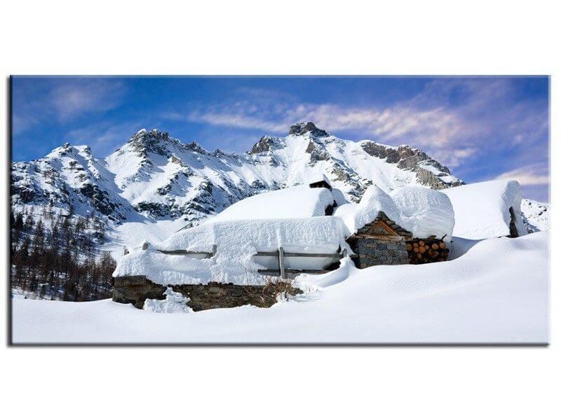 d co photo montagne neige tableau mural toile plexi et alu. Black Bedroom Furniture Sets. Home Design Ideas