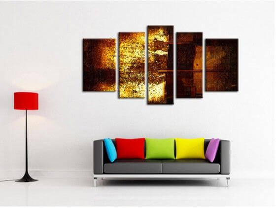 Tableau peinture moderne automne