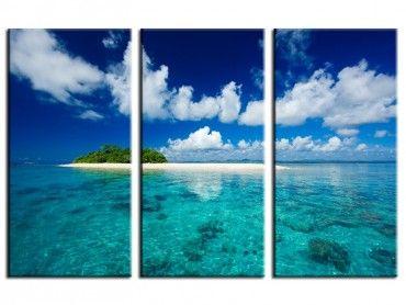 Tableau moderne tropical island