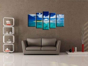 Tableau moderne tropical island