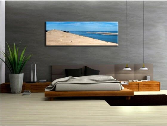 tableau paysage design dune du pyla plexi toile et alu pas cher. Black Bedroom Furniture Sets. Home Design Ideas