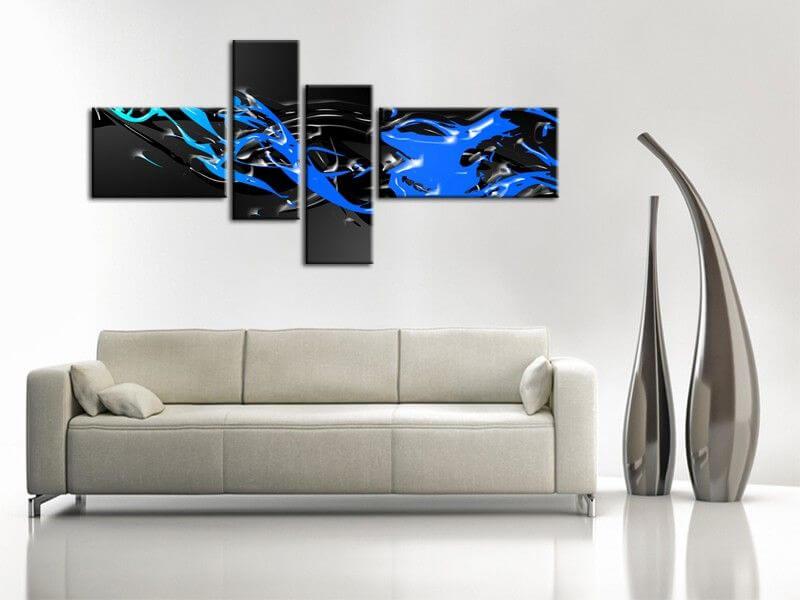 Tableau design abstrait lago vente de tableaux deco pas chers - Tableau peinture design ...