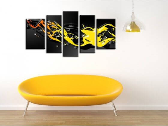 Tableau peinture design abstrait Lago