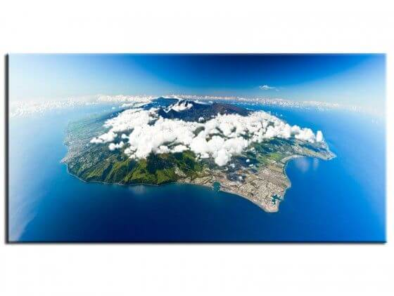 Tableau déco île de la Réunion vue du ciel
