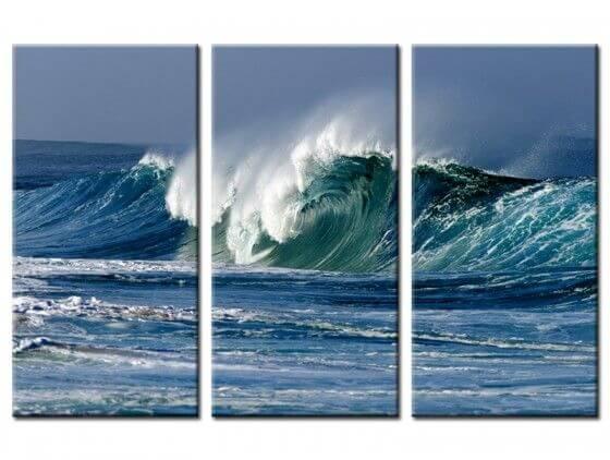Tableau moderne nice wave