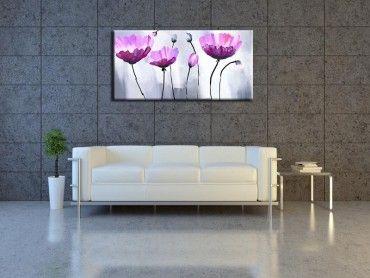 Tableau peinture fleur abstraite