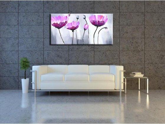 tableau peinture fleur pas cher d coration murale abstraite. Black Bedroom Furniture Sets. Home Design Ideas
