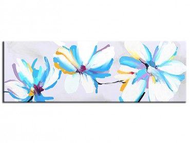 Tableau abstrait peinture fleur